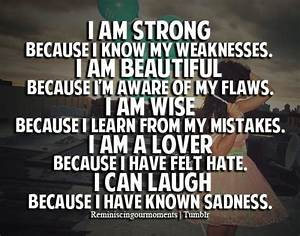 Because I Am Strong Quotes. QuotesGram
