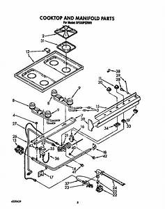 Cooktop And Manifold Diagram  U0026 Parts List For Model