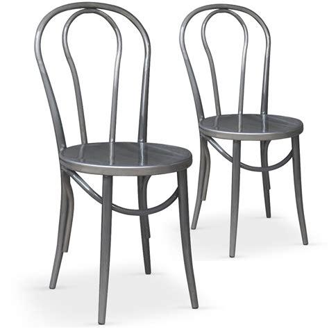 chaise bistro a vendre chaises bistrot argent coste lestendances fr
