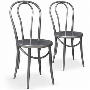 Chaise Bistrot Metal : chaises bistrot argent coste ~ Teatrodelosmanantiales.com Idées de Décoration