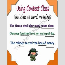 Context Clues From Essential Reading Skills On Teachersnotebookcom  (1 Page)  A Visual To