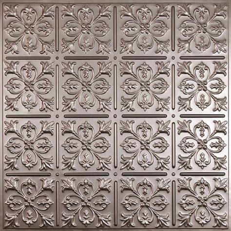 tin ceiling tiles home depot canada ceilume fleur de lis faux tin ceiling tile 2 x 2