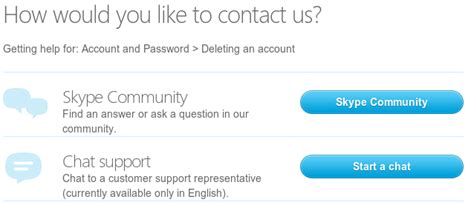 windows skype how to delete an account completely