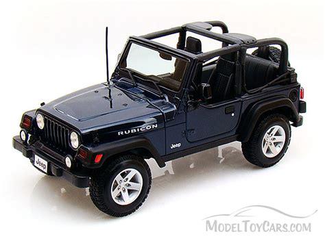 toy jeep car jeep wrangler rubicon blue maisto 31663 1 18 scale