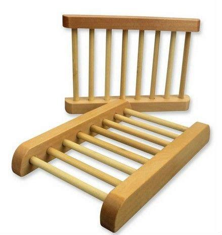 shipping natural wooden wood dowel soap saver dish rack deck  bamboo rods  soap