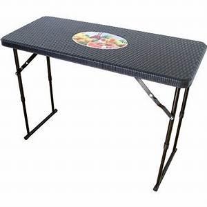 Table De Balcon Pliante : table pliante troite r glable en hauteur aspect rotin ~ Melissatoandfro.com Idées de Décoration