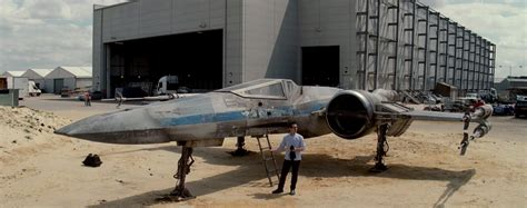 J.j. Abrams Shows Off First Footage Of X-wing In 'star
