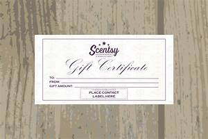 authorized scentsyvendor instant download scentsy gift With scentsy gift certificate template
