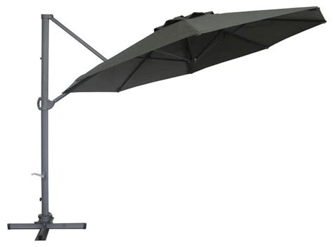abba patio 11ft cantilever patio umbrella with base 360