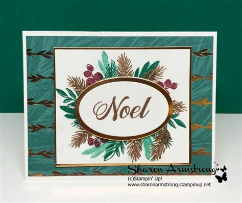 stampin  peaceful noel holiday card cards