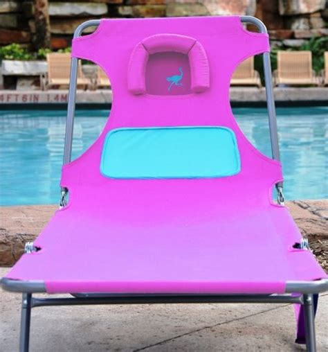 Ostrich Chair Pink by Chaise Lounge Pink Ostrich Comfort Lounger Folding
