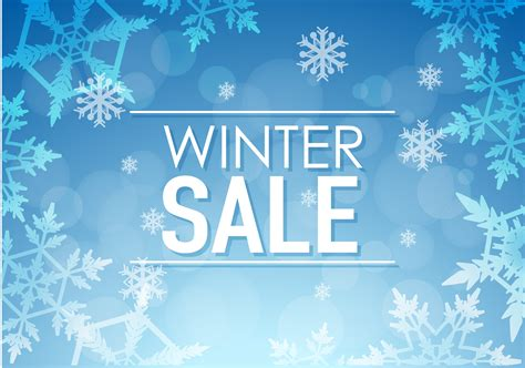 Winter sale poster design with snowflakes 591538 ...