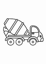 Coloring Pages Printable Transportation Cement Truck Mixer Concrete 4kids Wild Tiger Drawing Preschool Animals Colouring Transport Sheets Tractor Mixers Drawings sketch template