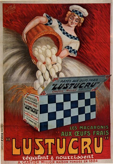 affiche cuisine vintage ancienne publicité pour les macaronis lustucru une