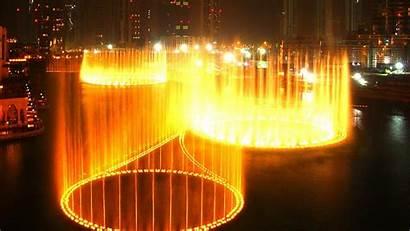 Dubai Fountain Night Dancing Wallpapers Burj Khalifa