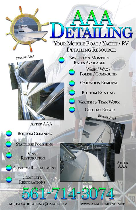 Boat Detailing Flyers aaa detailing flyer not fade away marketing