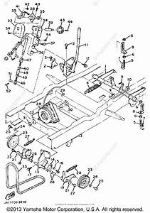 Yamaha Lawn Tractor 1988 Oem Parts Diagram For Cutter Deck
