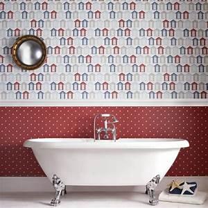 Feuchtraumtapete Fürs Bad : feuchtraumtapete wandgestaltung des badezimmers badezimmer tapete badezimmerideen und ~ Watch28wear.com Haus und Dekorationen