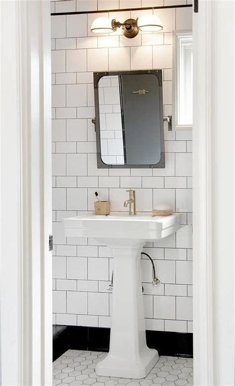 Pivot Bathroom Mirror Restoration Hardware by Black And White Bathroom Features A Restoration Hardware