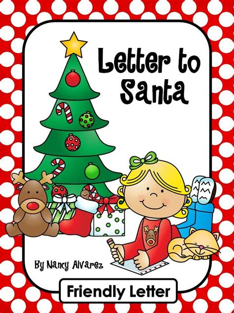 letter  santa writing center activity includes