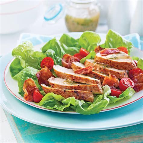 cuisine recettes pratiques salade blt au poulet recettes cuisine et nutrition pratico pratique