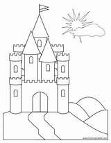 Castle Bouncy Drawing Getdrawings Coloring sketch template
