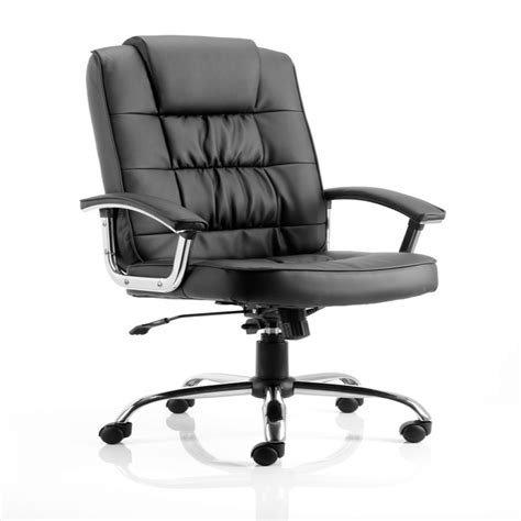 dynamic deluxe executive leather chair in black
