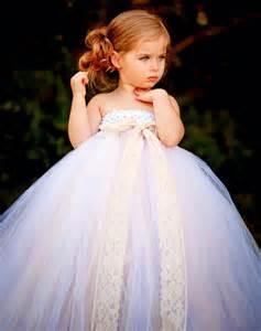 White Vintage Handmade Tulle Flower Girl Dress Princess Costume Children Kids Prom Party Wedding Dress Baby Girl Tutu Dresses