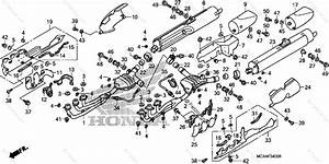 Honda Motorcycle 2008 Oem Parts Diagram For Muffler  1