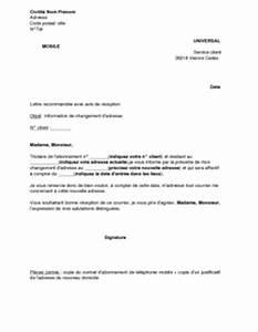 Modèle Changement D Adresse : lettre d 39 information de changement d 39 adresse universal mobile mod le de lettre gratuit ~ Gottalentnigeria.com Avis de Voitures