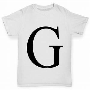 Twisted envy girl39s alphabet monogram letter g t shirt ebay for Shirt lettering near me