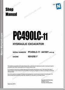 Komatsu Hydraulic Excavator Pc490lc 11 Usa Shop Manual