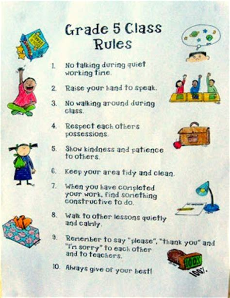 classroom rules template 4 best images of printable classroom rules template