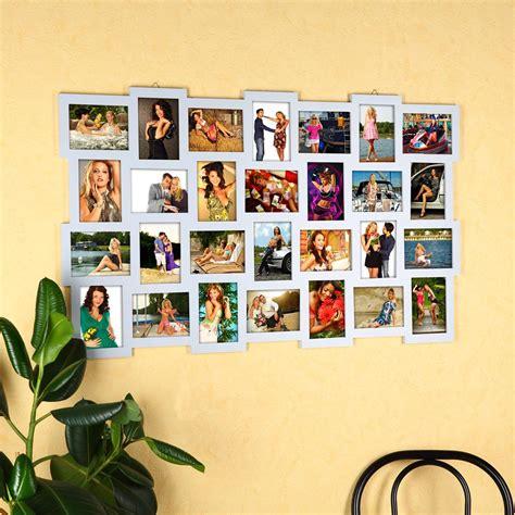 bilderrahmen collage silber 28 fotos bilderrahmen fotorahmen fotogalerie rahmen holz collage silber 10x15cm kaufen bei