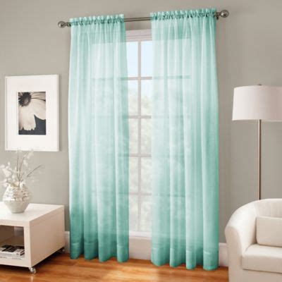 mint curtain panels buy green voile panels from bed bath beyond