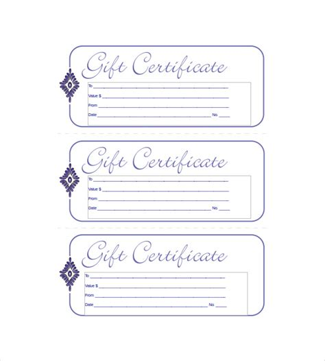 Free Downloadable Gift Certificate Templates by 15 Business Gift Certificate Templates Free Sle