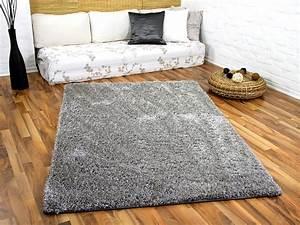 Shaggy Teppich Grau Silber : hochflor shaggy teppich luxus feeling mix silber teppiche hochflor langflor teppiche schwarz ~ Bigdaddyawards.com Haus und Dekorationen