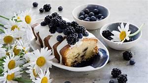 HD Hintergrundbilder brombeeren heidelbeeren gebacken keks