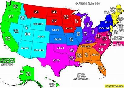 Map States United Zip Code Codes Zones