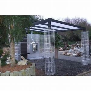 gabionen uberdachung markus bvh pinterest terrasses With awesome jardin en pente amenagement 4 mur gabion dans le jardin moderne un joli element fonctionnel