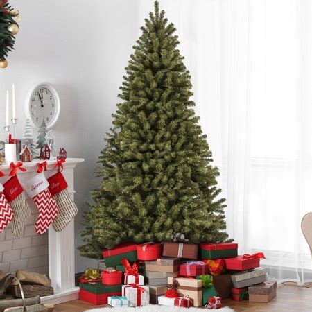 walmart 65 artifical xmas trees best choice products 7 5ft premium spruce hinged