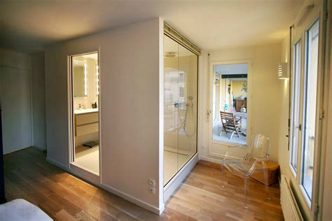 le chambre architecture intérieure réunion de deux appartement en un
