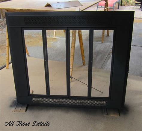 Painting Fireplace Doors by Repainting Brass Fireplace Doors All Those Detailsall