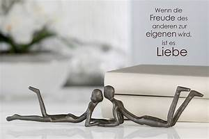 Deko Figuren Liebespaar : moderne design skulptur loving edle dekofigur ~ Indierocktalk.com Haus und Dekorationen