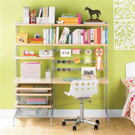 corner desk organization ideas birch platinum elfa d 233 cor freestanding study zone the