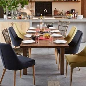 chaise en hevea et frene vert esprit scandinave vert With idee deco cuisine avec table salle À manger alinea
