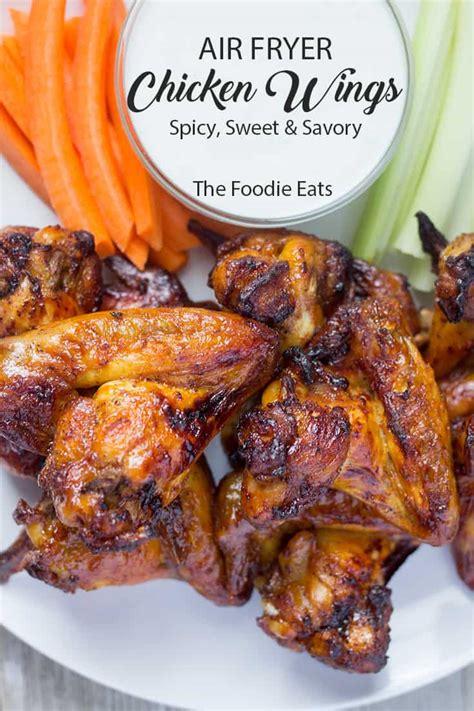 fryer chicken air wings spicy sweet savory foodie crispy thefoodieeats