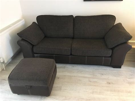 Foot Sofa by Large 2 Seater Sofa Arm Chair And Foot Stool In