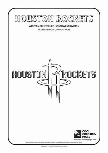 Coloring Basketball Nba Pages Logos Cool Houston