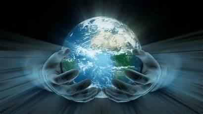Mundo Earth Hands Glowing Planet Mi Magnetic
